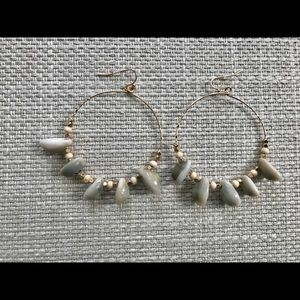 Jewelry - New cowrie shell & bead hoops